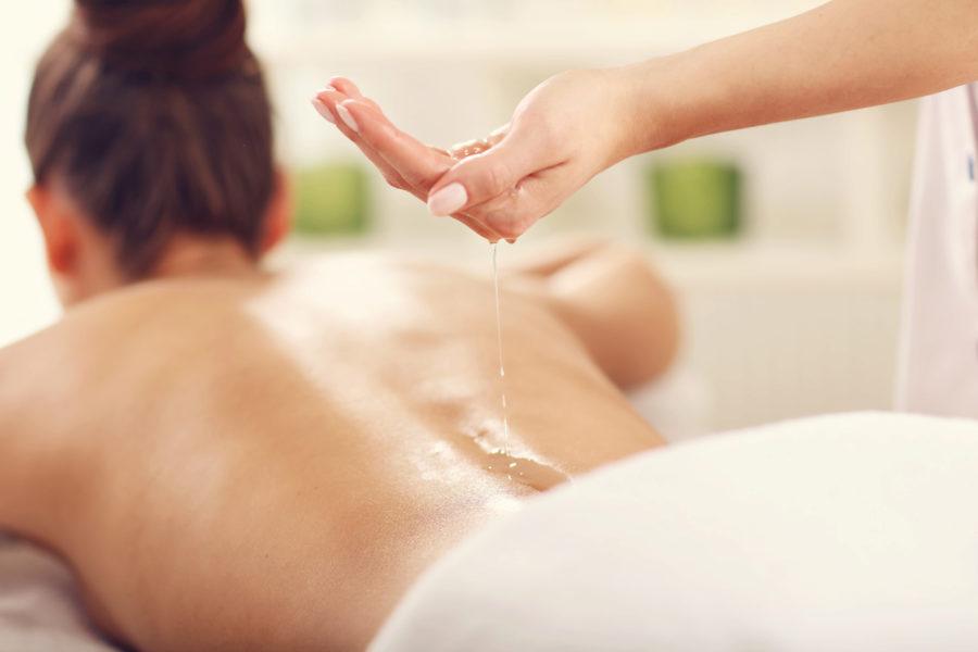Aroma-Öl-Massagen